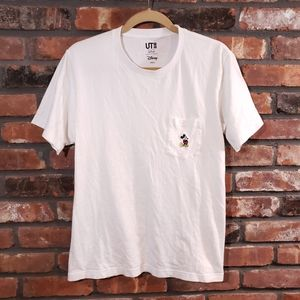 Disney Uniqlo Embroidered Mickey Mouse Pocket Tee